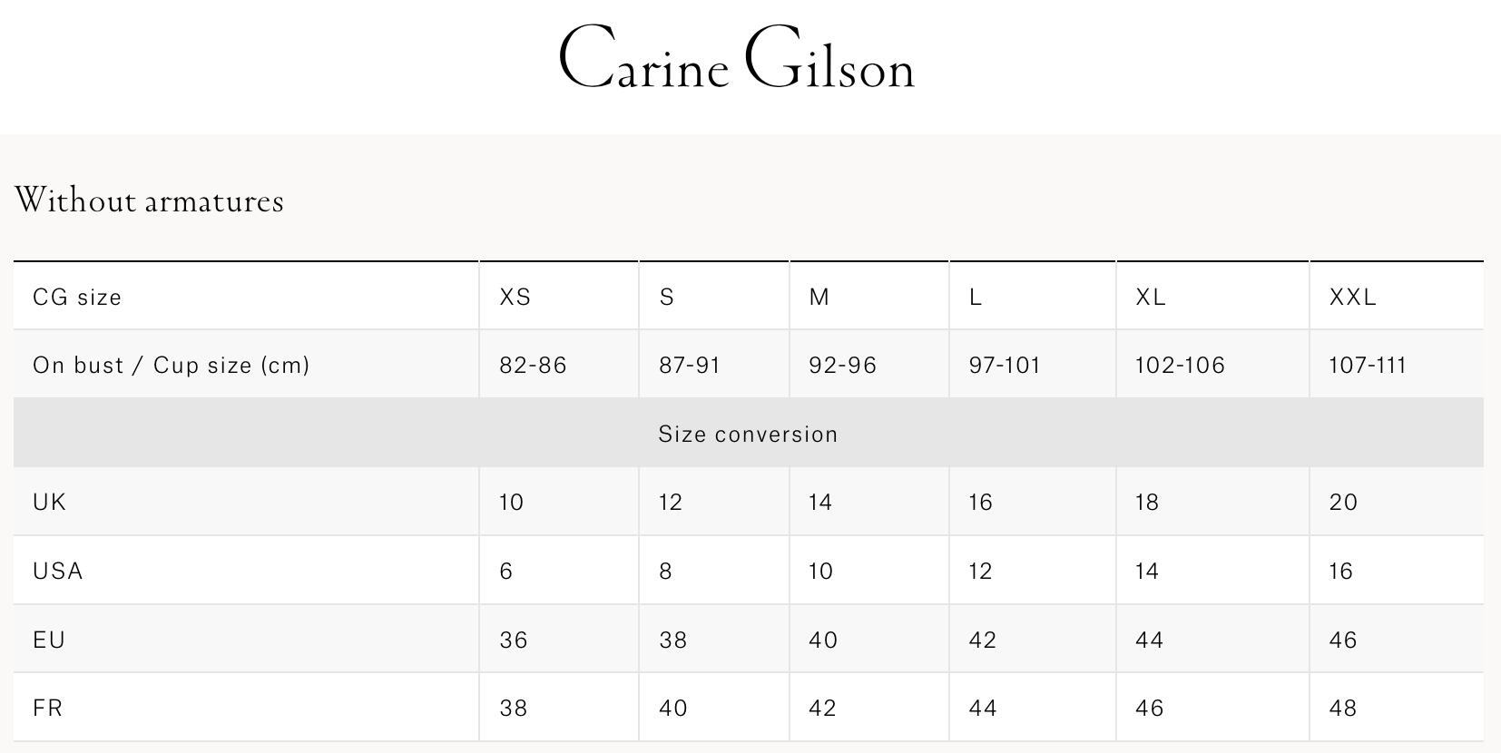Carine Gilson  无罩杯连体内衣