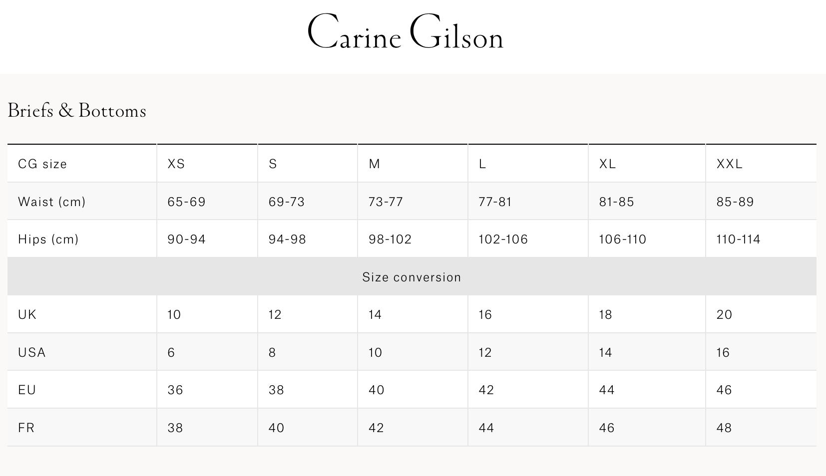 Carine Gilson  女士内裤&泳裤
