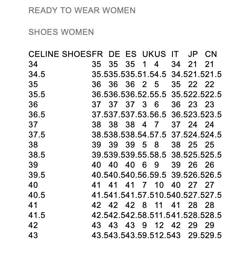 Celine 赛琳女士鞋履