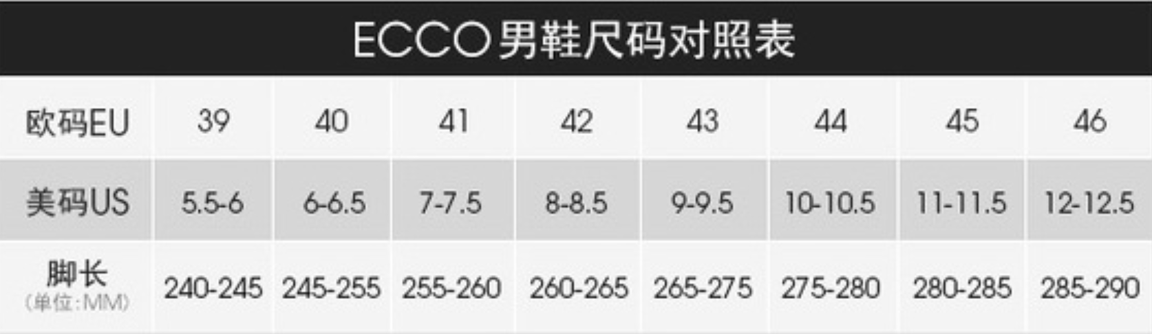 ECCO 爱步男士鞋履